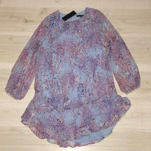 BCBGMaxAzria purple blue dandelion shift dress